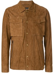 White Mountaineering Zipped Fitted Jacket Brown