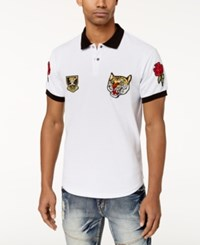 Reason Men's Parkhill Embroidered Patch Polo White