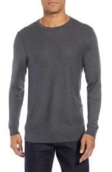 Calibrate Honeycomb Crewneck Sweater Grey Tornado