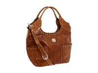 American West Harvest Moon Tote Warm Tan Tote Handbags