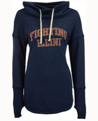 Retro Brand Women's Illinois Fighting Illini Funnel Neck Sweatshirt Navy