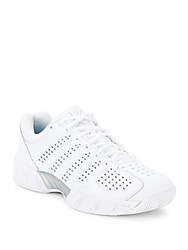 K Swiss Textured Lace Up Sneakers White