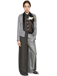 Lanvin Striped Satin Evening Jacket