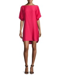Milly Boat Neck Dolman Shift Dress Rose