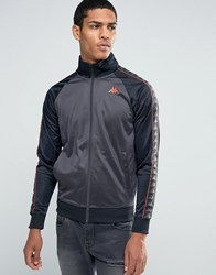 Kappa Track Jacket With Taping Grey