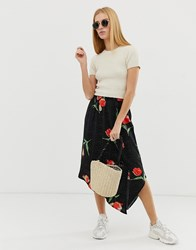 B.Young Printed Faux Wrap Skirt Multi