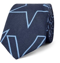 Givenchy Printed Cotton Tie Navy