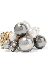 Lanvin Gold Tone Faux Pearl Ring 51