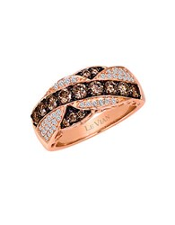 Le Vian 14K Rose Gold Ring With Chocolate And Vanilla Diamonds Chocolate Diamond Rose Gold