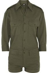 Nlst Officer's Cotton Twill Playsuit Green
