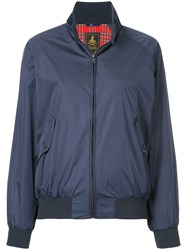 Hysteric Glamour Stand Up Collar Bomber Jacket Polyester Rayon Blue