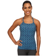 Prana Quinn Top Indigo Baleen Women's Workout Blue