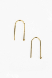 Urban Outfitters 18K Gold And Sterling Silver Wire Earring Curve