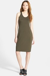 Eileen Fisher The Fisher Project Racerback Jersey Midi Dress Green