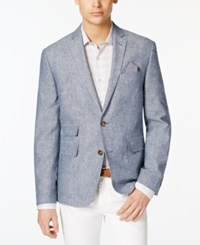 Bar Iii Men's Indigo Chambray Slim Fit Sport Coat Only At Macy's