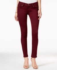 Miss Me Burgundy Wash Skinny Jeans Burgundy Red