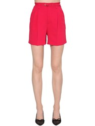 Red Valentino High Rise Stretch Shorts Red