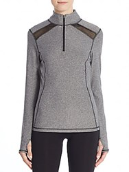 Saks Fifth Avenue Mesh Panel Track Jacket Charcoal