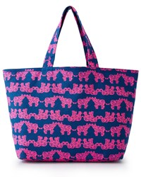 Pack Your Trunk Beach Tote Lilly Pulitzer Indigo