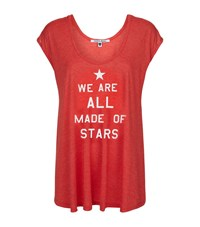 Wildfox Couture Wildfox Made Of Stars Tulum Tunic Female Red