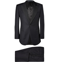 Gieves And Hawkes Navy Wool Tuxedo Blue