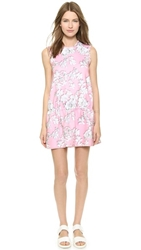 Cynthia Rowley Bonded Drop Waist Dress Pink Floral
