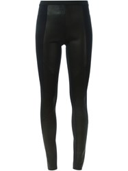 Ilaria Nistri Leather Panel Leggings Black