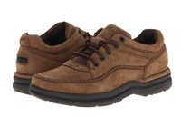 Rockport World Tour Classic Chocolate Nubuck Men's Lace Up Casual Shoes Brown