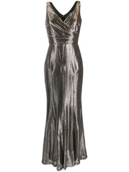 Lauren Ralph Lauren Metallic Evening Gown Gold