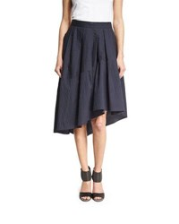 Brunello Cucinelli Crinkled Sateen Party Skirt Navy