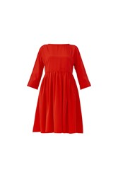 Maiocci Collection Slouchy Baby Doll Dress Red