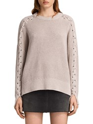 Allsaints Aria Laced Jumper Nude Pink