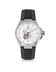 Lancaster Men's Watches Space Shuttle Meccanico Stainless Steel And Nubuck Men's Watch