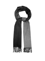 Begg And Co. Arran Ombre Effect Cashmere Scarf Black Multi