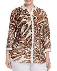 Basler Plus Animal Print Shirt