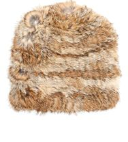 Hat Attack Fur Slouchy Hat Brown
