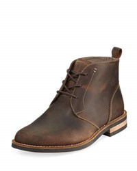 Original Penguin Merle Distressed Leather Boot Brown