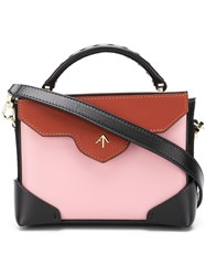 Manu Atelier Top Handle Satchel Bag Pink And Purple