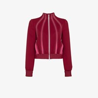 Valentino Techno Contrast Stitched Track Jacket Red