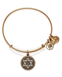 Alex And Ani Star Of David Iii Expandable Wire Bangle Rafaelian Gold