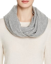 Bloomingdale's C By Angelina Cashmere Solid Loop Scarf Pale Gray