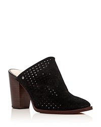 Sam Edelman Bates Perforated High Heel Mules Black