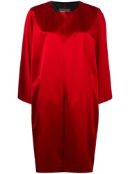 Gianluca Capannolo Collarless Mid Length Coat Red