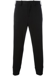 Neil Barrett Gathered Ankle Trousers Black