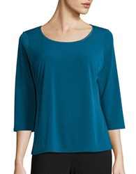 T Tahari Sumaya Three Quarter Sleeved Top Beau Blue