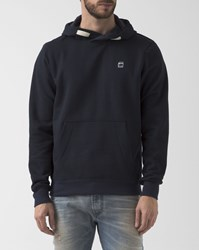 G Star Core Navy Blue Hooded Sweatshirt With Logo On Chest