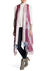Raj Feathered Flower Embroidered Vest Pink