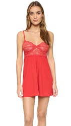 Only Hearts Club So Fine Lace Baby Doll Chemise Lipstick