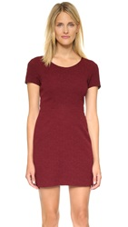 The Kooples Short Sleeve Dress Burgundy