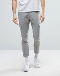 New Look Cropped Cargo Trousers In Light Grey Light Grey